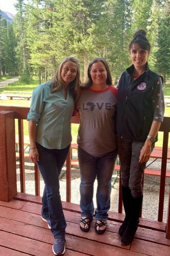 Corie Weathers, Rebecca Alwine, and Taya Kyle at the Empowered Spouses Retreat