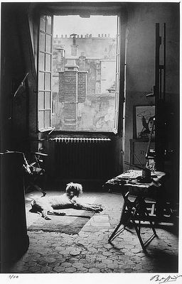 Picasso's studio, Paris, 1920.