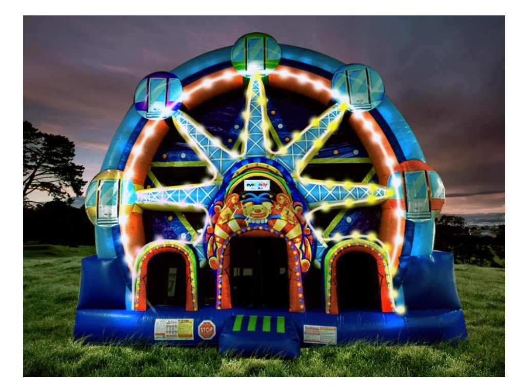 milwaukee carnival inflatable combo rental