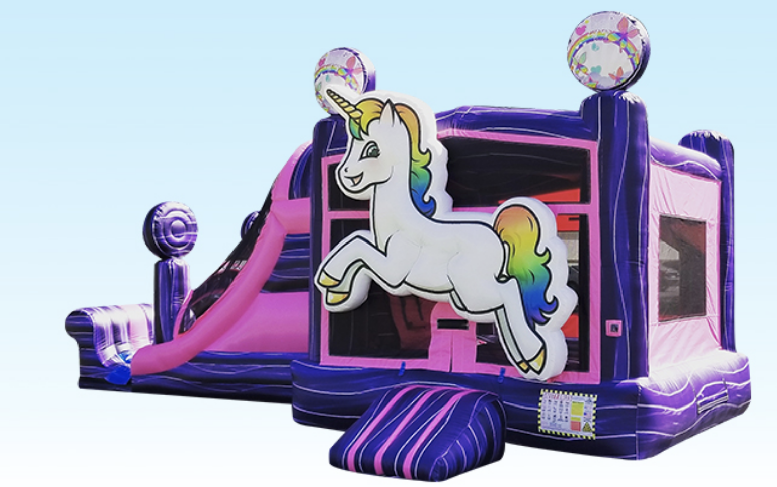 Milwaukee, Madison, Pewaukee, Brookfield, Mequon, Cedarburg, Fox Point, Bayside, Muskego Unicorn Bounce House Combo Rental