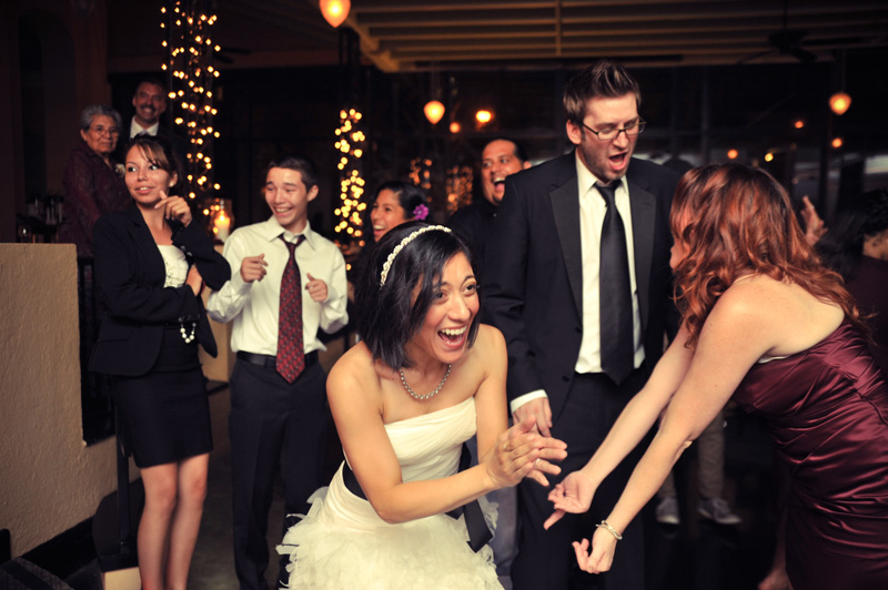 Candid of Bride and Groom dancing at The Terrace Room in Oakland, CA