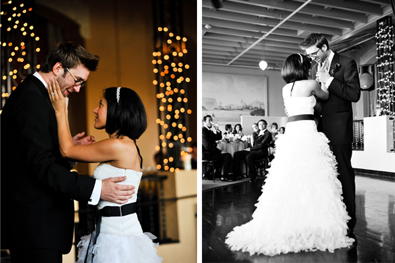 Bride and Groom sharing first dance at The Terrace Room in Oakland