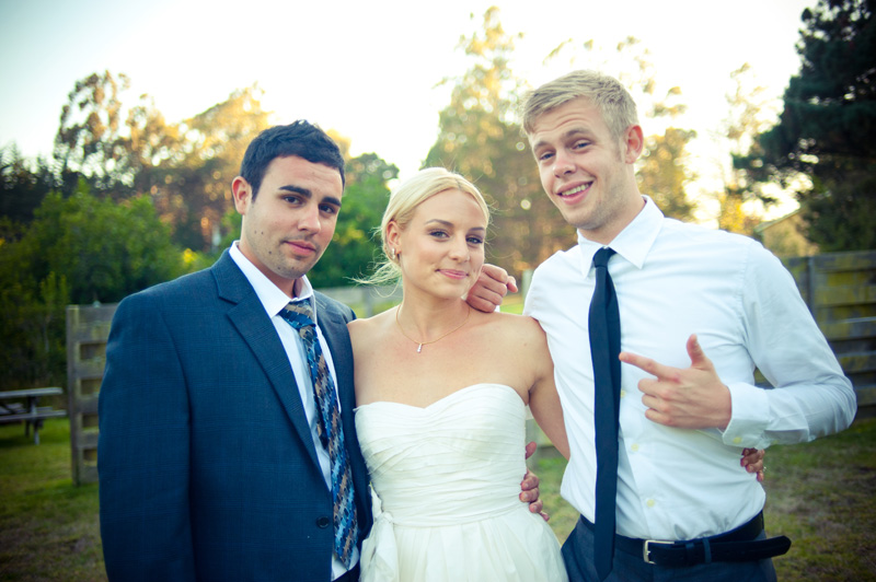 Portrait of Bride with Brothers
