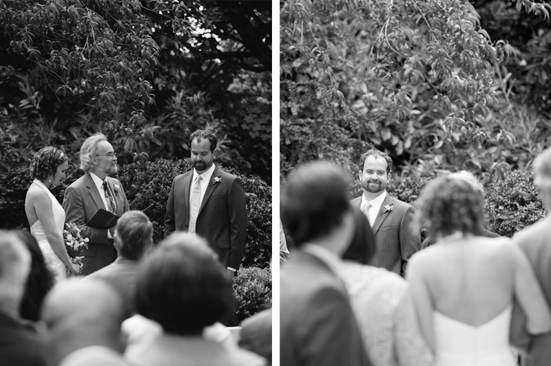 Groom seeing Bride for first time in Golden Gate Park