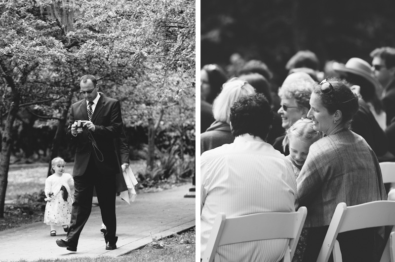 Guests at Golden Gate Park wedding