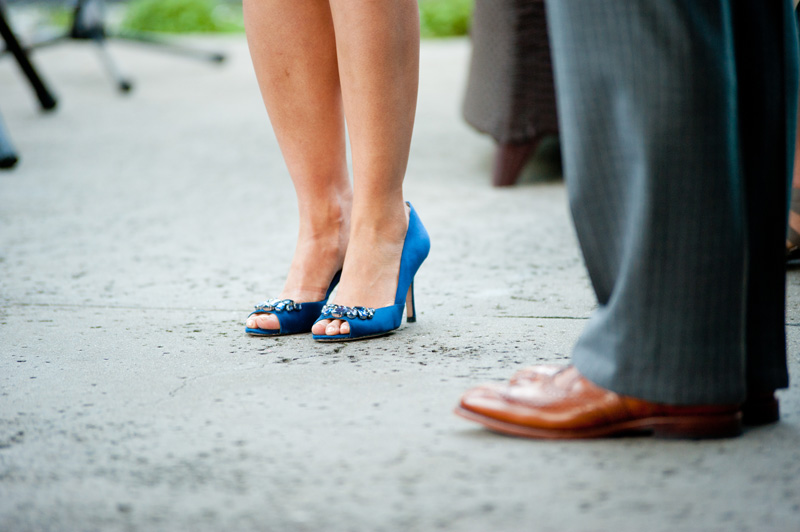 Detail of Bride and Groom's shoes