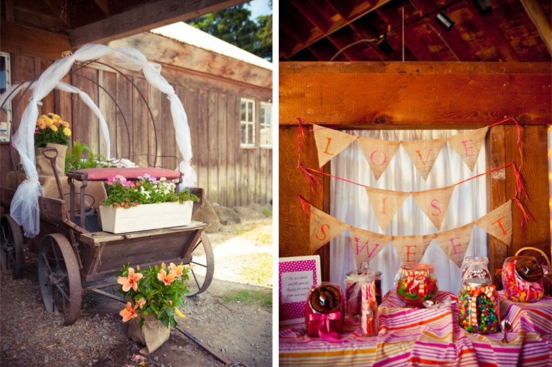 Rustic details at Petaluma barn wedding