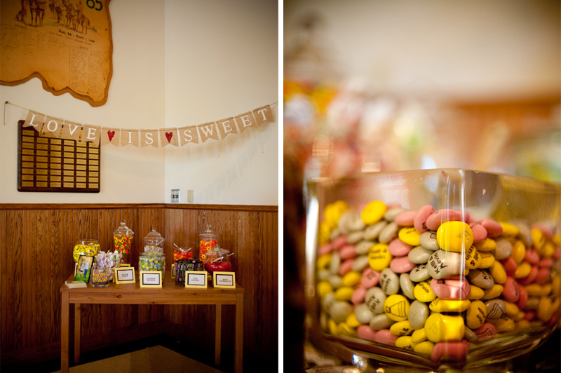 Detail of candy bar at wedding