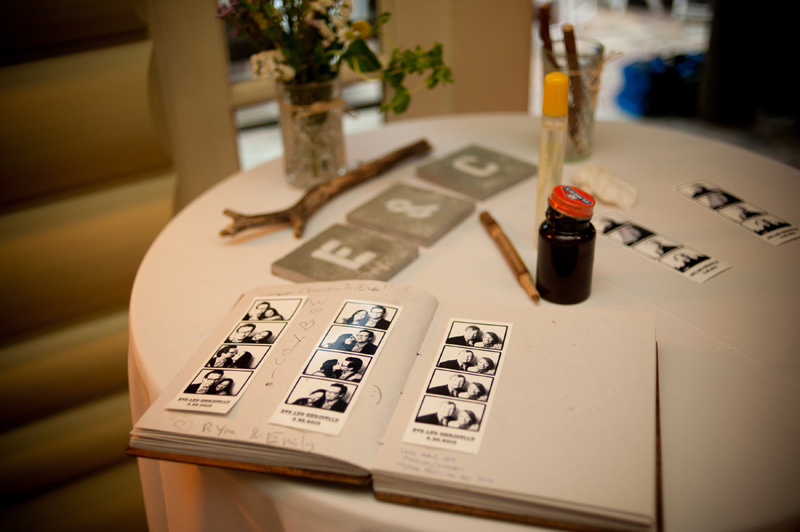 Photo booth guest book detail