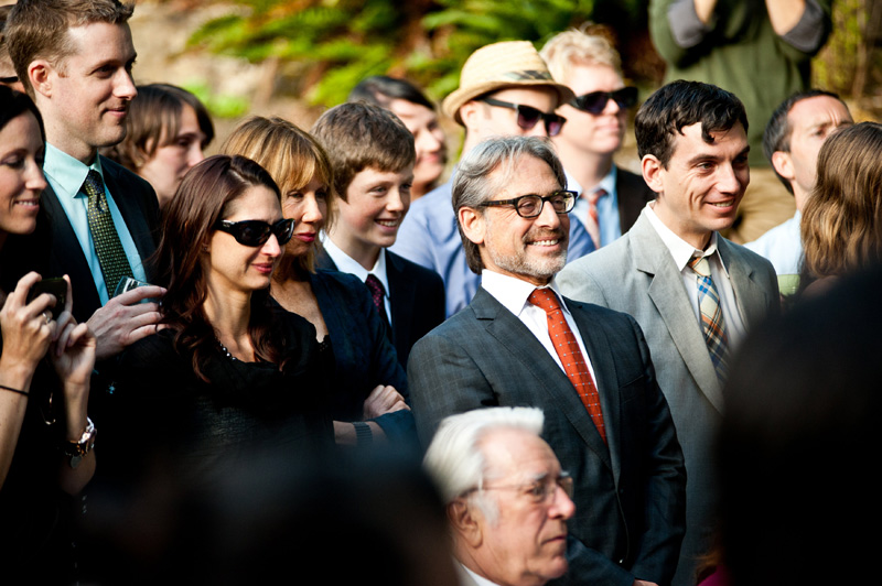 Guests during ceremony at Lake Temescal wedding