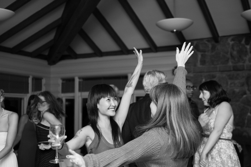Guests dancing in Beach House at Lake Temesca