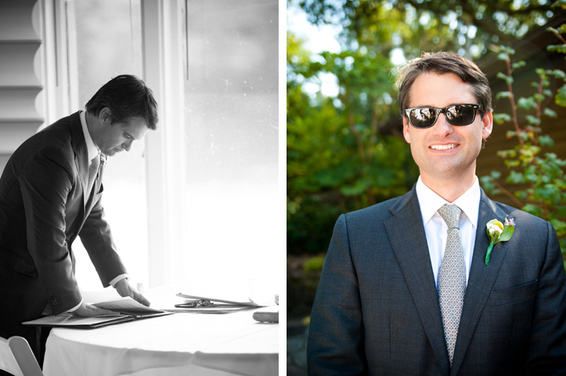 Portrait of wedding officiant at Lake Temescal in Oakland