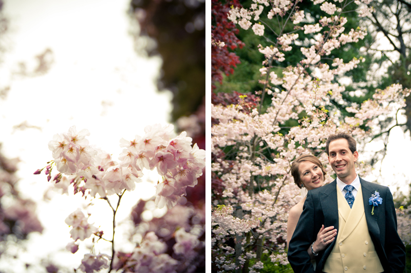 Bride and Groom at Piedmont Park in Piedmont, CA