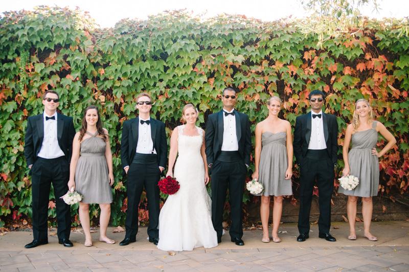 Wedding party at Viansa Winery