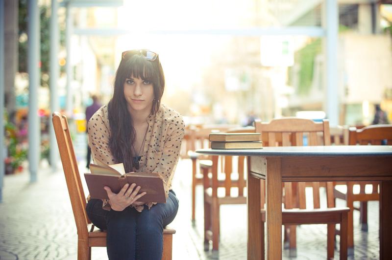 Portrait of high school senior reading in San Francisco