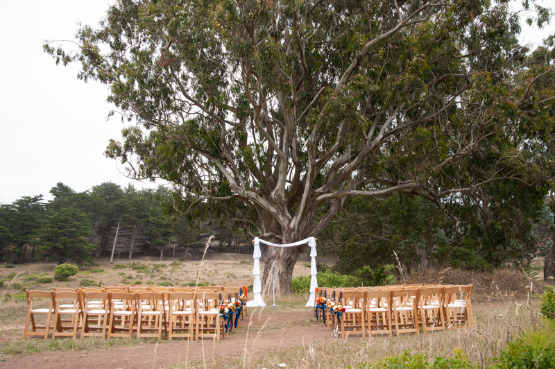 Ceremony site at Headlands Center for the Arts