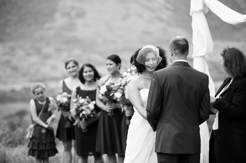 Bride and Groom during ceremony at Headland Center of the Arts