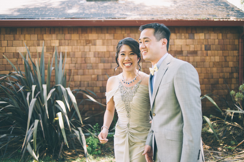 Candid of Bride and Groom in Berkeley, CA