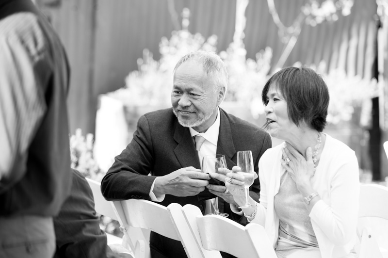 Parents of groom during cocktail hour