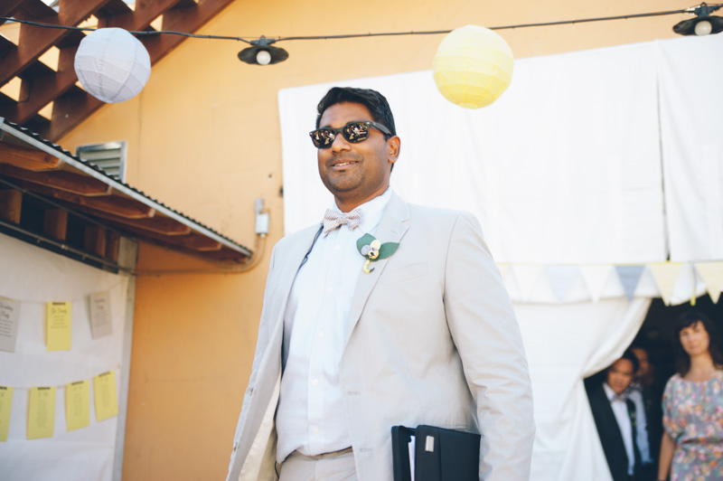 Officiant during wedding ceremony in Oakland