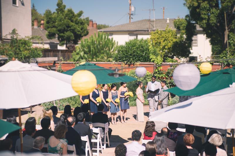 Wedding ceremony at Pizzaiolo in Oakland