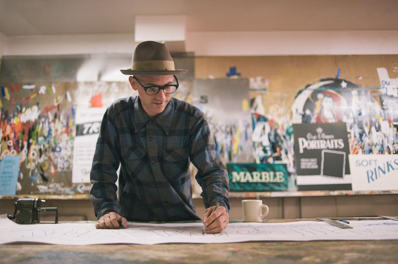 Portrait of Derek at Golden West SIgns