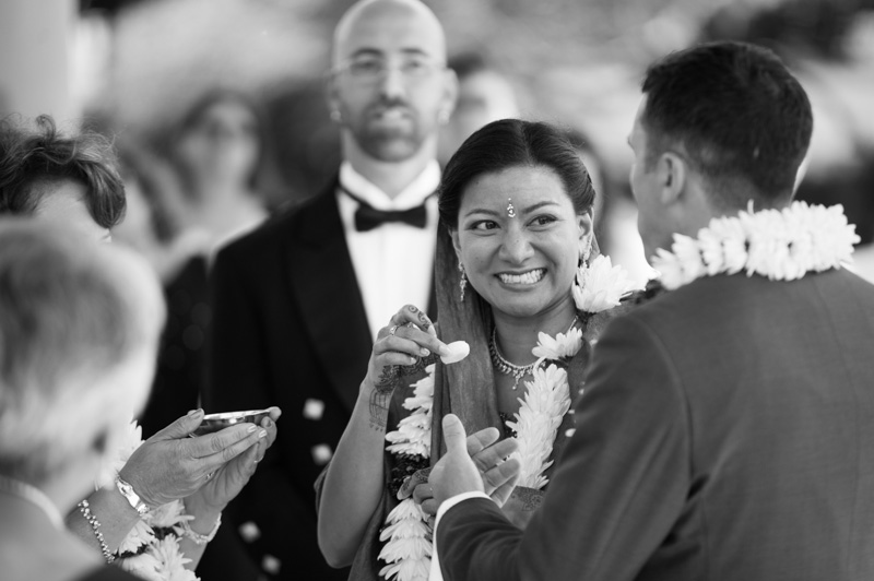 Candid photo of bride during Indian Ceremony in Oakland