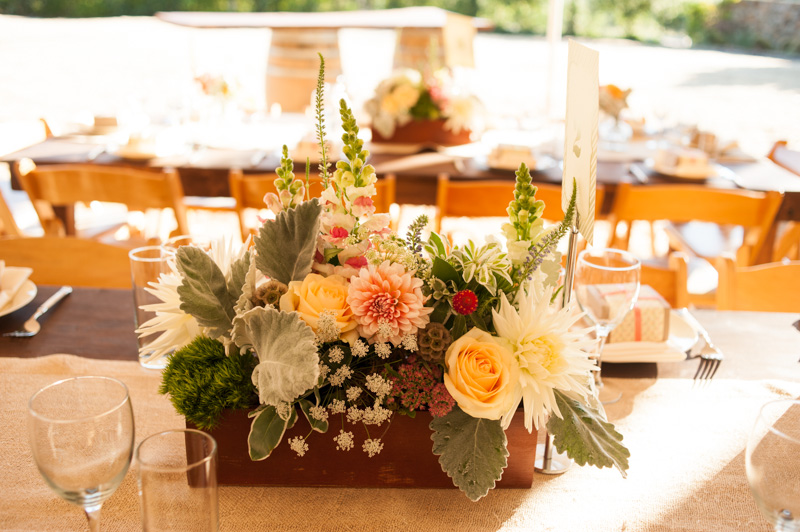 Planter style table arrangment