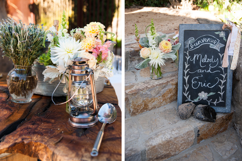 Details at house wedding in california wine country