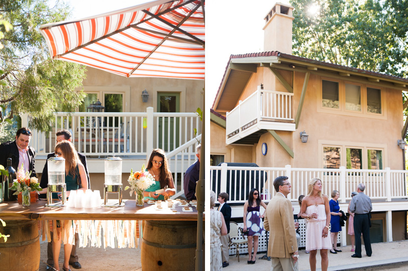 Wedding reception at house in St. Helena, CA