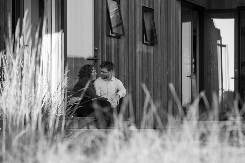 Candid portrait of couple in Sea Ranch