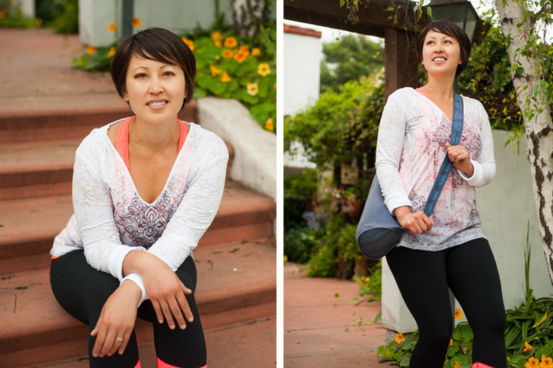 Lifestyle portrait of Berkeley yoga instructor