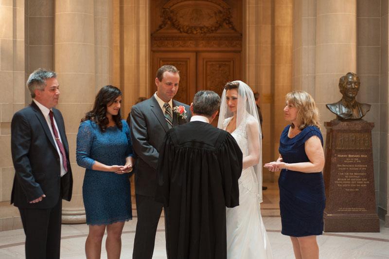 Wedding Ceremony at San Francisco City Hall