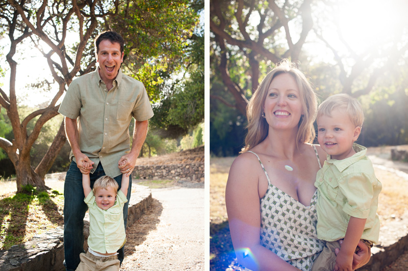 Oakland family portraits at Joaquin Miller Park