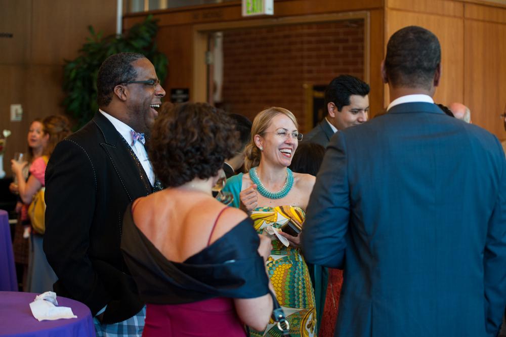 Wedding guests at UC Berkeley Alumni House