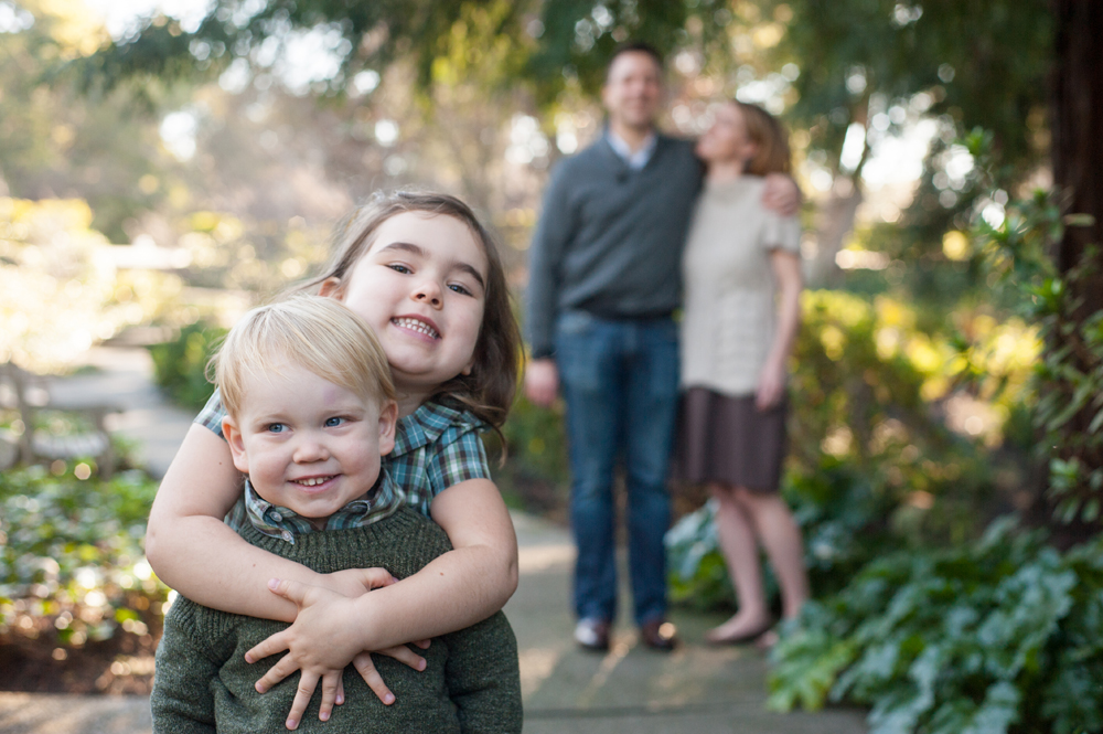 Candid portrait of brother and sister in piedmont, ca