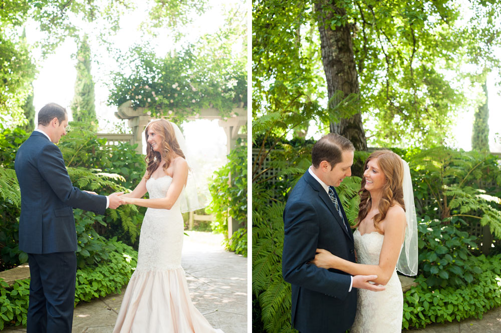 Candid portraits of the bride and groom