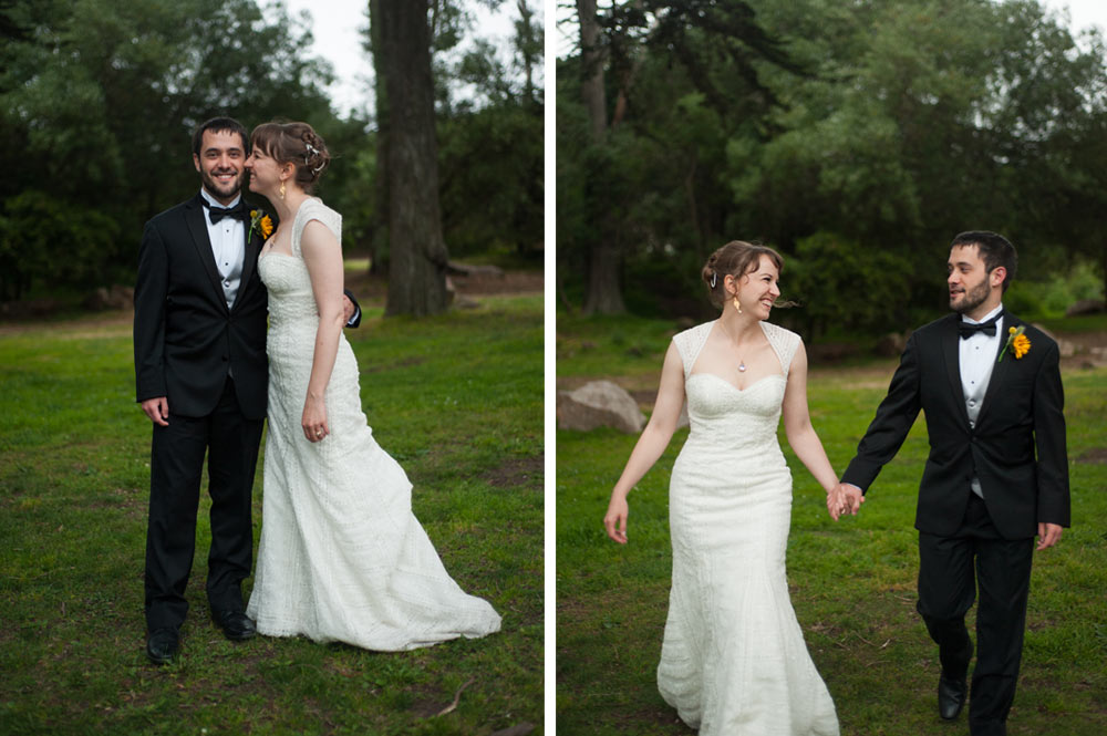 Portraits of Bride and Groom in Golden Gate Park