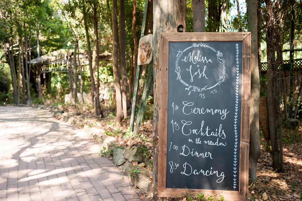Chalkboard for wedding