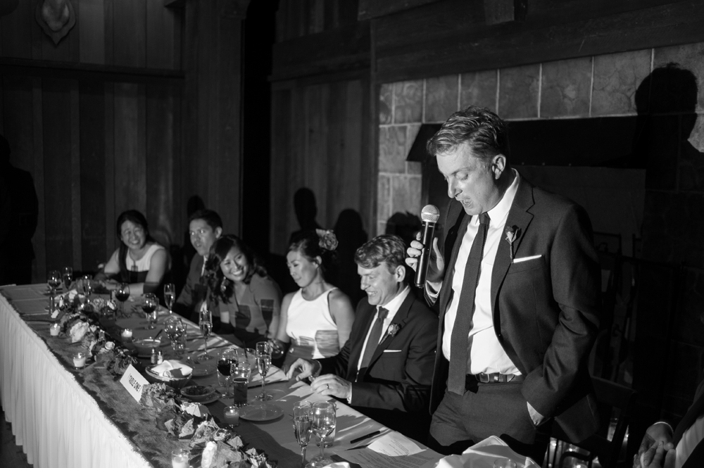 Best man gives toast at UC Berkeley Faculty Club