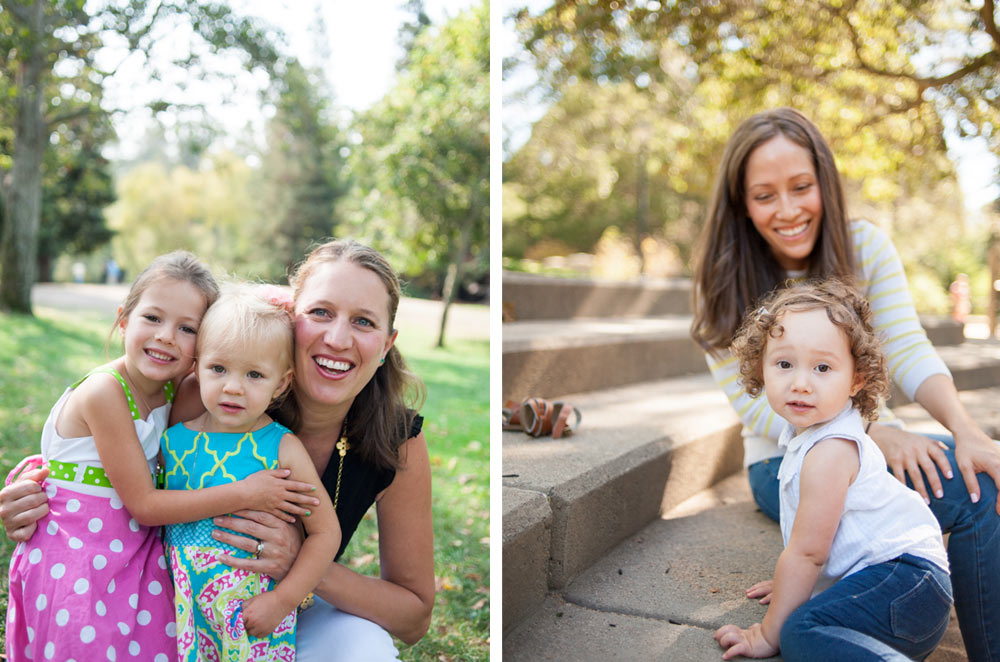 Portrait of Moms with daughters