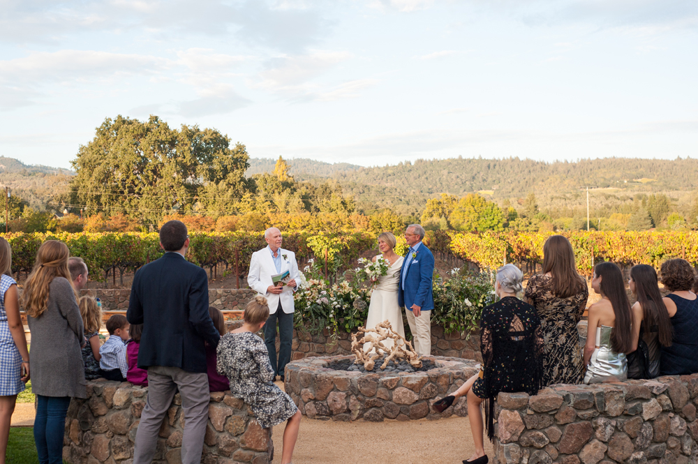 Intimate wedding in St. Helena