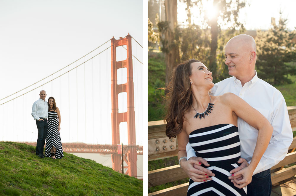 Anniversary session in San Francisco and the Golden Gate Bridge