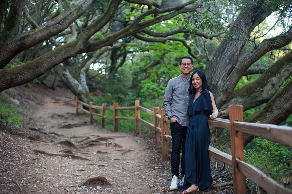 Couple on trail in Tilden Park