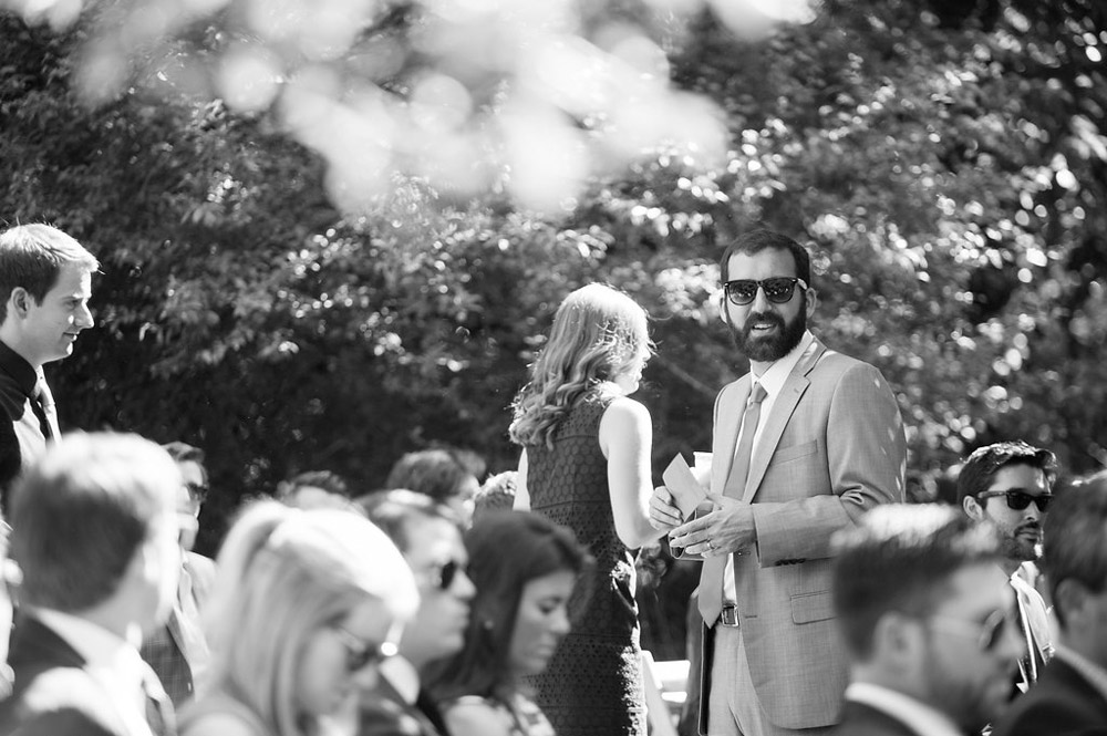 Candid of wedding guests arriving to Dawn Ranch in Guernville