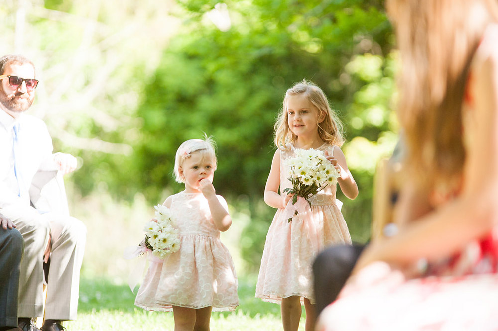 Flower girls coming down the aisle