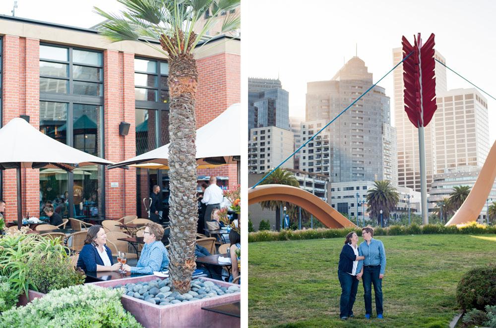 Engagement photos at Embarcadero in San Francisco