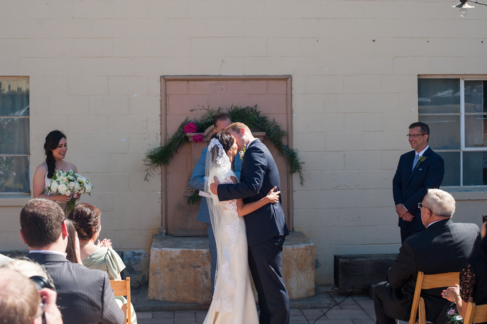 Kiss the bride at Pizzaiolo