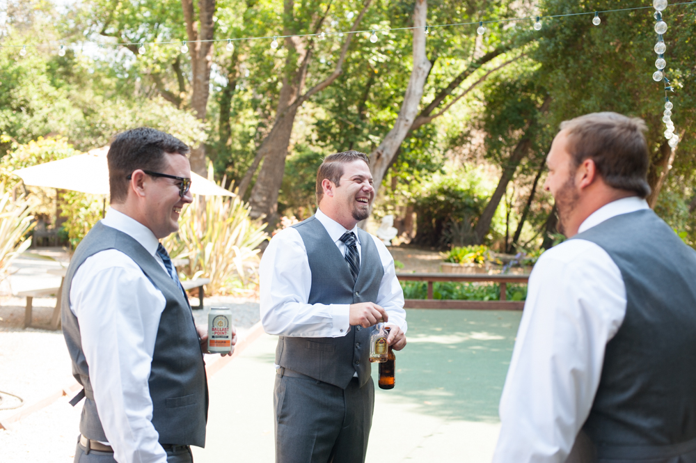 Candid of groom and groomsmen at Rancho Soquel