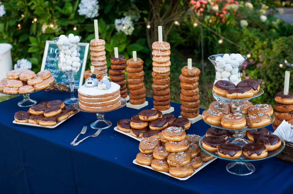 Donut bar at Rancho Soquel wedding